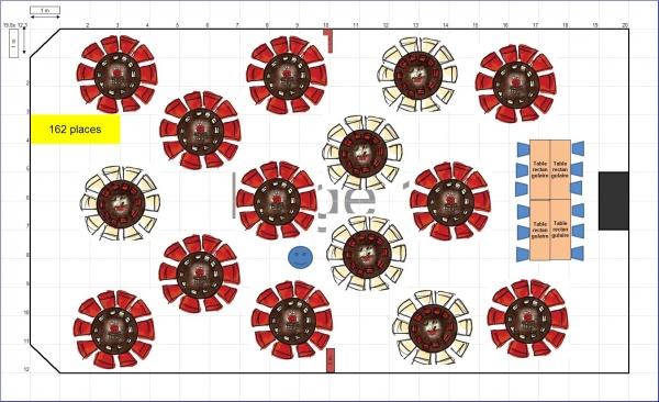 Disposition table mariage pour 200 personnes ustensiles de cuisine - Disposition table mariage ...