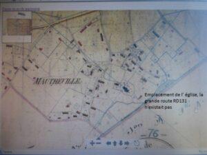 Plan Mautheville Eglise